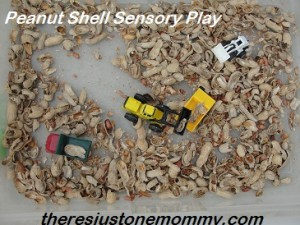 peanut shell sensory play