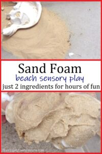 how to make sand foam