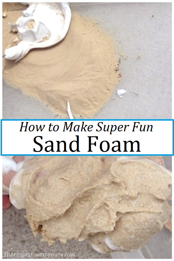 how to make sand foam by mixing sand and shaving creame