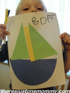 preschooler boat craft