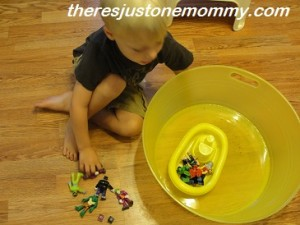 simple preschool math activity using boats