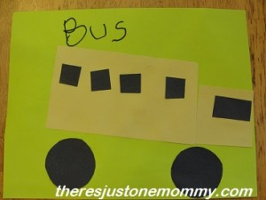 preschooler bus craft