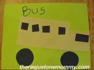 preschooler bus craft