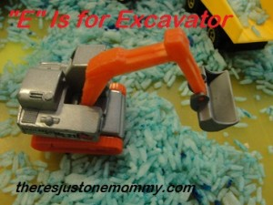 E is for excavator
