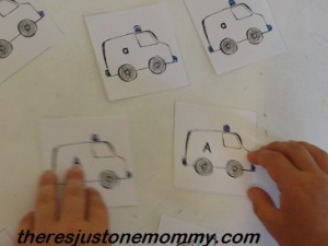 vehicle letter activity