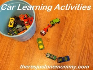 learning activities with cars
