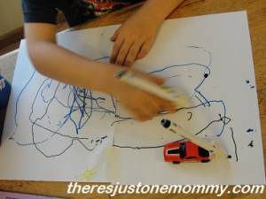 things to do with cars - draw with them!