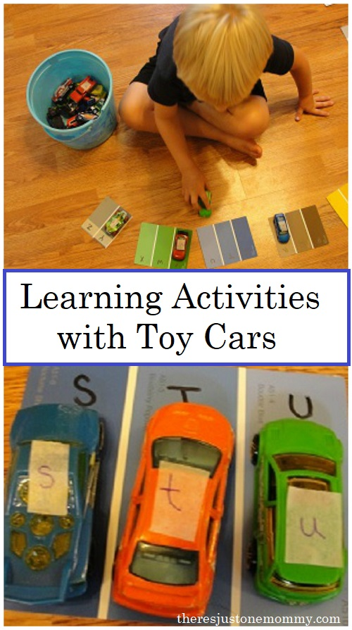 car learning activities -- preschool learning activities using toy cars