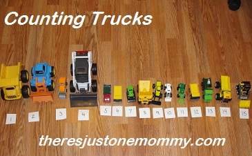 fun learning activity using toy vehicles
