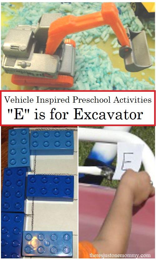 Preschool Alphabet Activities inspired by vehicles
