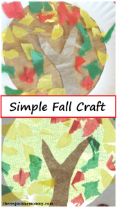 simple fall craft -- fall suncatcher, perfect toddler fall craft or preschooler fall craft