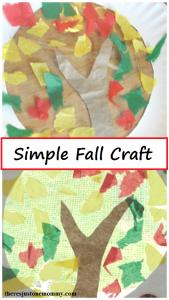 simple fall craft -- fall suncatcher, perfect toddler fall craft or preschooler fall craft
