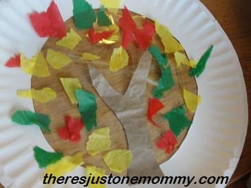 preschooler fall tree craft