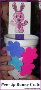 Pop-Up Bunny Craft: Cute preschooler spring craft or preschooler Easter craft