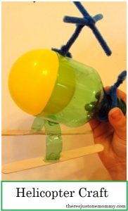 kids helicopter craft -- simple recycled craft for kids
