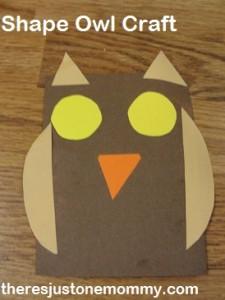 preschooler owl craft