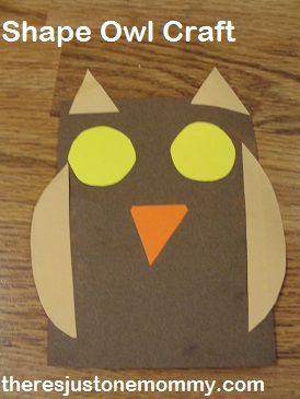 preschooler owl craft