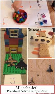 "J is for Jet: preschool activities for the letter ""J"" and other learning activities with toy jets"