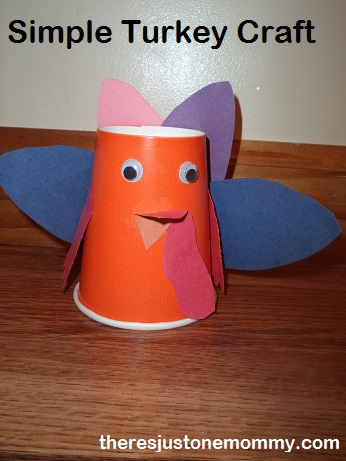 Paper Cup Turkey There S Just One Mommy
