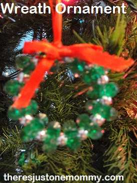 beaded Christmas ornament