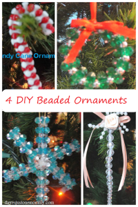 4 DIY beaded ornaments