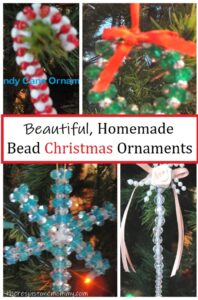 homemade Christmas ornaments with beads