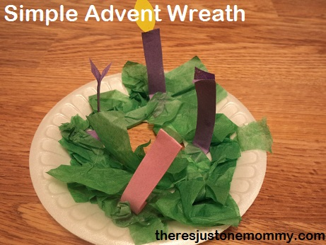 paper plate Advent wreath for preschool