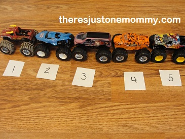 math activities with trucks