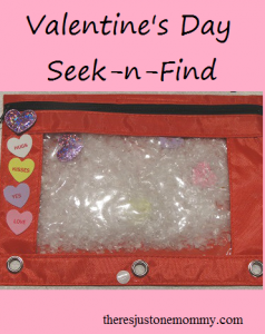 DIY seek-n-find -- great Valentine's Day activity for kids