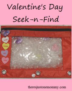 DIY seek-n-find -- great Valentine's Day activity for kids
