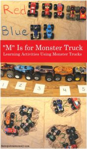 hands on learning activities with toy trucks
