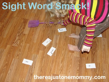 sight word practice at home with this sight word game