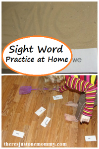 2 simple ways to practice sight words at home
