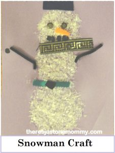snowman craft-- artificial snow craft