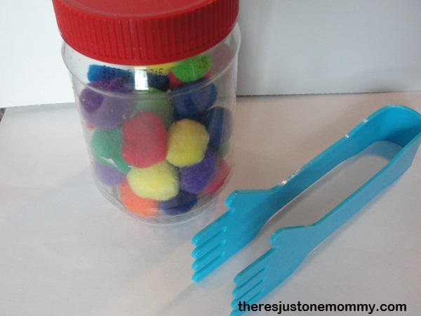 pom-pom fine motor skills for pretend play