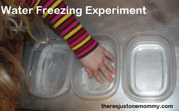 freezing water experiment
