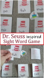 DIY sight word game for Dr Seuss Week
