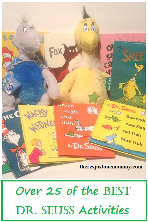 Over 25 awesome Dr. Seuss activities -- book activities for Cat in the Hat, Green Eggs and Ham and other Dr. Seuss book