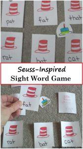 Dr. Seuss Activity: DIY Dr. Seuss sight word game
