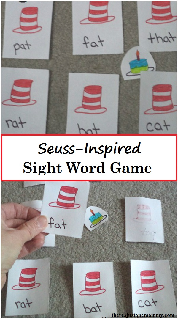 Dr. Seuss Activity: DIY Dr. Seuss sight word game