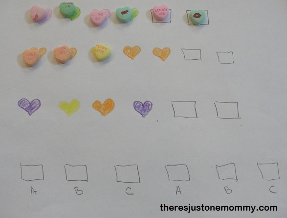 using candy to work on patterns