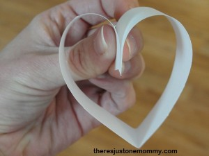 heart made from a strip of folded paper