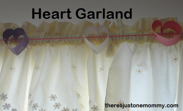 paper hearts garland via There's Just One Mommy
