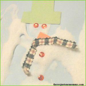 DIY snow paint: shaving cream paint snowman craft
