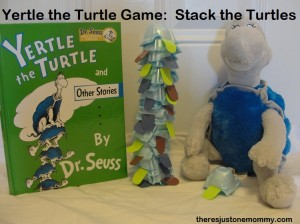 Yertle the Turtle Activity:  Stack the Turtles Game