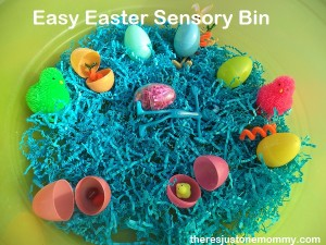Easy Easter Sensory Bin from There's Just One Mommy