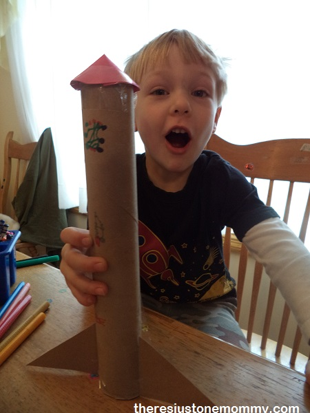 preschooler rocket craft