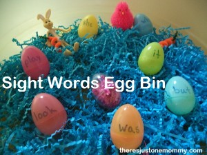 sight word Easter eggs