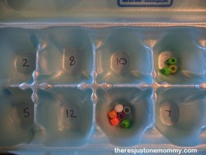 egg carton counting activity