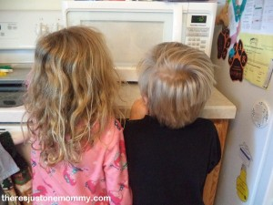 kids watching Ivory soap in microwave